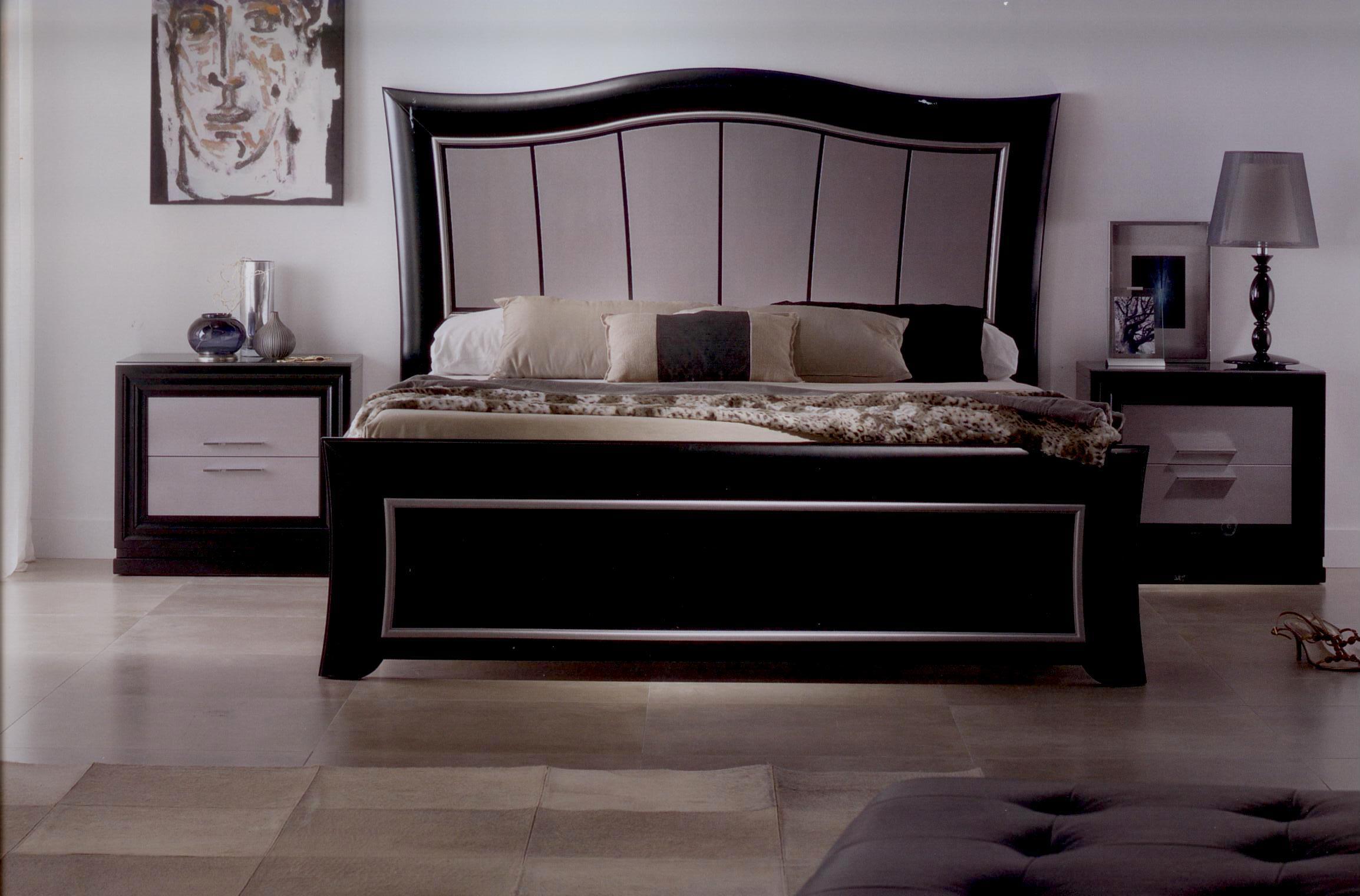 Dormitorio plata negro comercial mavic venta de muebles for Dormitorio wengue y plata