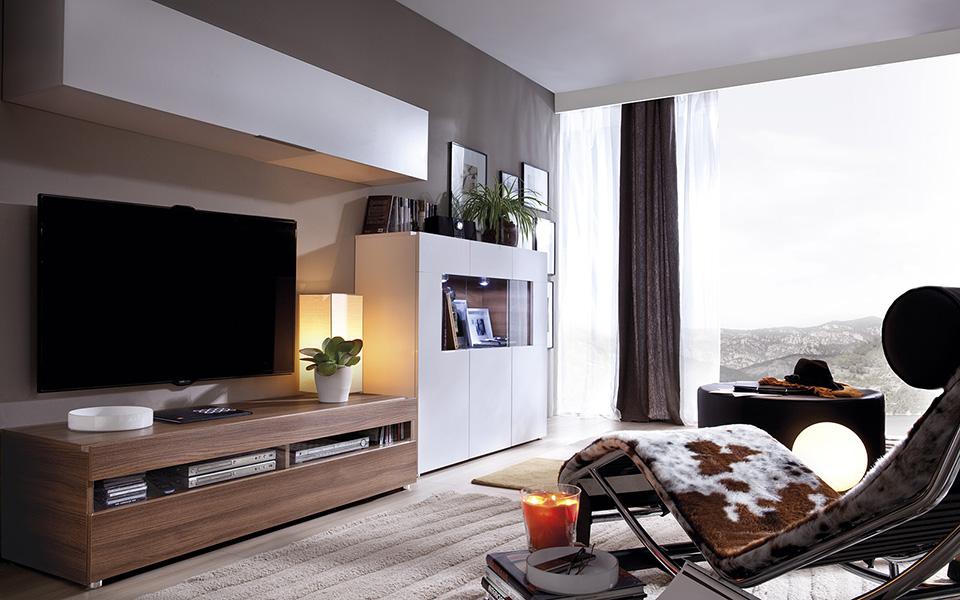Salon Moderno Comercial Mavic Venta De Muebles Y Electrodomesticos - Salones-blanco-y-beige